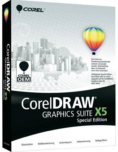 CorelDRAW Corel Graphics Suite X5 pakke