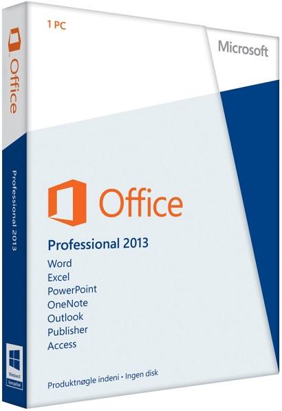 Microsoft Office 2013 Professional produkt