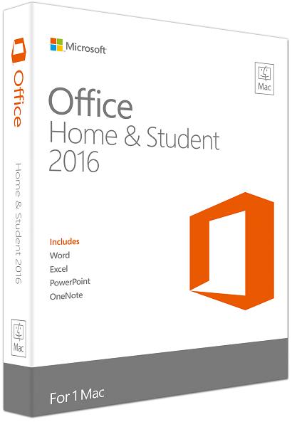 Microsoft Office 2016 MAC Home and Student Pakke
