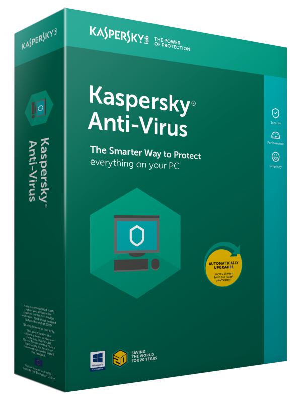 kaspersky anti-virus indpakning