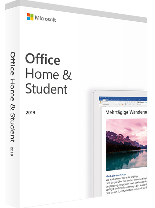 pakke med teksten office home & student