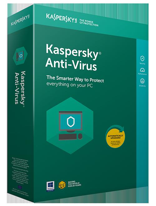 grønt kasse med tekst kaspersky anti-virus