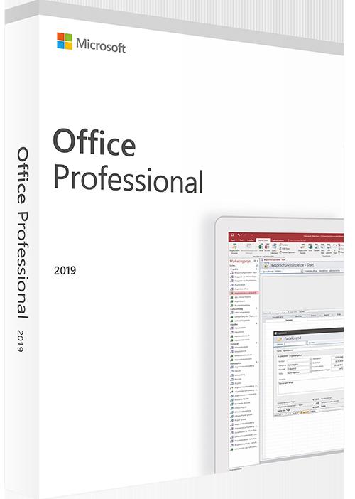 pakke med tekst office professionel