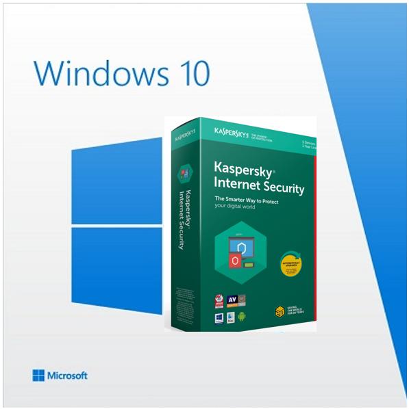 Windows 10 Home + Kaspersky Internet Security 2019 - Windows 10 Home + plus Kaspersky Internet Security 2019 (1 år – 1 enhed)  Windows 10 Home Version :Windows 10 Home 32/64 Bit Produkttype :Operativsystem Produktserie : Windows Producent : Microsoft Software :Windows 10 Home 32/64 Bit Sprog : Dansk (el