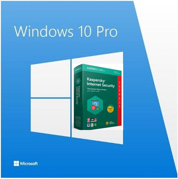 Windows 10 Professional + Kaspersky Internet Security 2019 - Windows 10 Professional + plus Kaspersky Internet Security 2019 (1 år – 1 enhed)  Windows 10 Professional Version :Windows 10 Professional 32/64 Bit Produkttype :Operativsystem Produktserie : Windows Producent : Microsoft Software :Windows 10 Professi